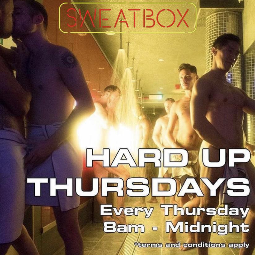 Sweatbox Soho Hard Up Thursdays